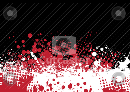 Blood tone stock vector clipart, Blood splat abstract background with red and white ink pools by Michael Travers