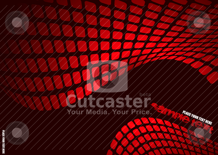 Wavy mesh stock vector clipart, Red and black abstract background with room to add text by Michael Travers