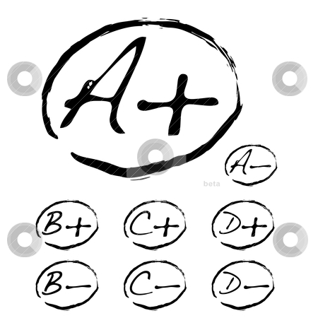Teachers pet stock vector clipart, Teachers pet collection with a plus sign and negative mark by Michael Travers