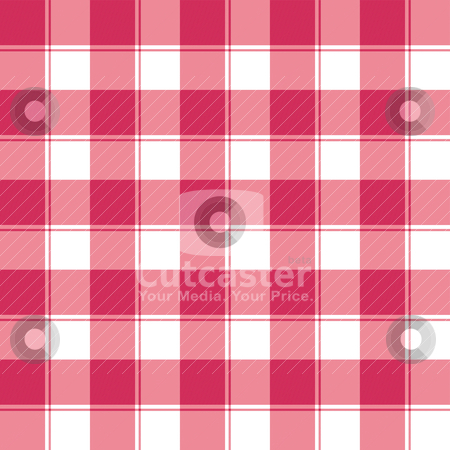 Checked weave stock vector clipart, Traditional red and white checked seamless pattern background by Michael Travers