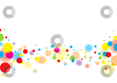 Light bubble stock vector clipart, Subtle colorful bubble background with white copyspace and blur effect by Michael Travers