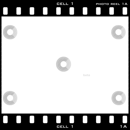 Photo cell stock vector clipart, Single black and white photo sell with room to add your own image by Michael Travers