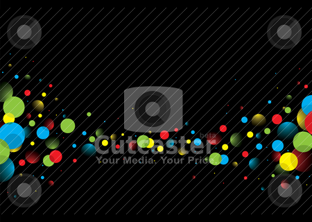 Dark abstract bubble stock vector clipart, Brightly colored abstract bubble background with copy space by Michael Travers