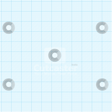 Graph paper stock vector clipart, Blue grid graph paper with various size lines by Michael Travers