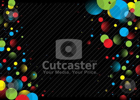 Border bubble stock vector clipart, Black background with colorful bubbles with copy space by Michael Travers