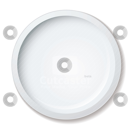 Dinner plate stock vector clipart, Simple clean white porcelain dinner plate with shadow by Michael Travers