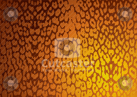Leopard skin subtle stock vector clipart, Golden leopard skin background with textured effect in gold by Michael Travers