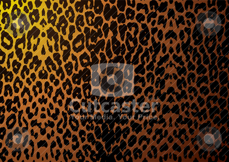 Leopard skin stock vector clipart, Abstract leopard skin or hide background with camouflage texture by Michael Travers