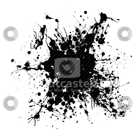 Gothic grunge ink splat stock vector clipart, Black gothic grunge ink splat with room to add your own text by Michael Travers