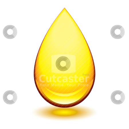 Amber droplet stock vector clipart, Golden amber icon with tear droplet shape and shadow glow by Michael Travers