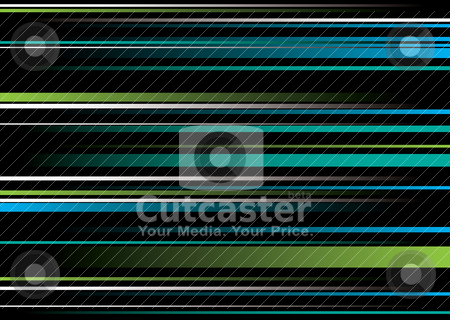 Band green blue overlap stock vector clipart, Green and blue abstract background with flowing ribbon string by Michael Travers