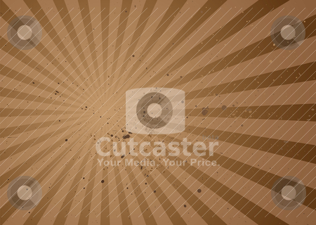 Radiate brown grunge stock vector clipart, Grunge ink splat background with radiating rays and brown shades by Michael Travers