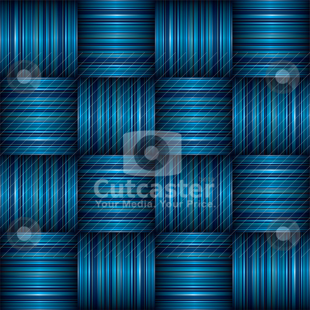 Blue stripe weave stock vector clipart, Abstract Striped weave background effect with shadow effect by Michael Travers
