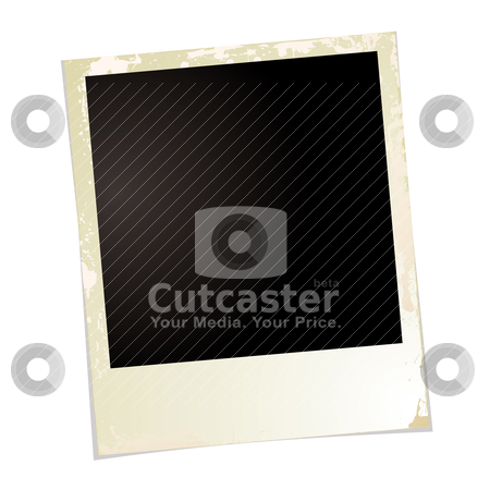 Photo grunge two stock vector clipart, Brown grunge photo illustration with blank space for your own image by Michael Travers