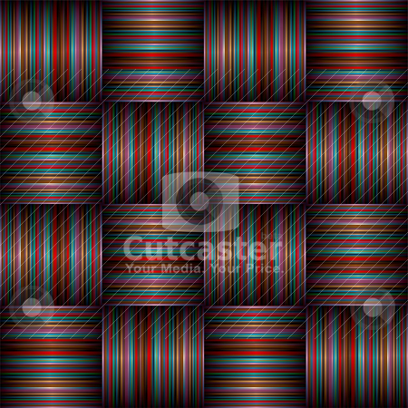Subtle stripe weave stock vector clipart, Striped subtle background with weave effect and shadow by Michael Travers