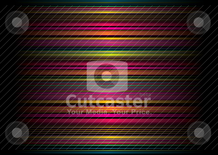 Rainbow stripe random small stock vector clipart, Rainbow striped band background with light reflection and shadow by Michael Travers