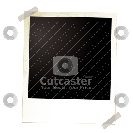 Photo grunge four stock vector clipart, Single photo image with room to add your own image with sticky tape by Michael Travers