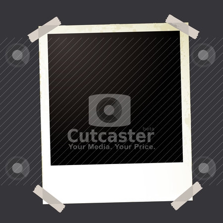 Photo grunge sticky stock vector clipart, Blank instant photo with room to add your own image and sticky tape by Michael Travers