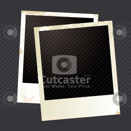Photo grunge overlap stock vector clipart, Two photo images with room to add your own image by Michael Travers