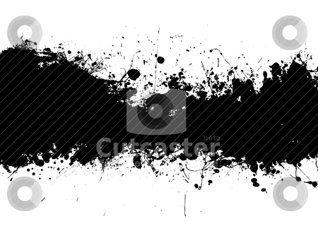 Ink splat band black stock vector clipart, Grunge black ink banner with room to add your own text by Michael Travers