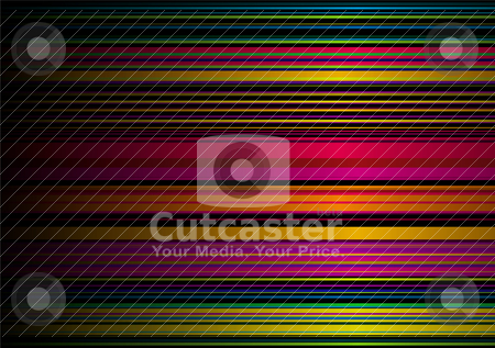 Rainbow stripe glow stock vector clipart, Abstract rainbow background with gradient effect and ribbon effect by Michael Travers