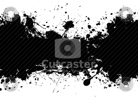 Grunge banner black stock vector clipart, Black and white ink splat banner with room to add your own text by Michael Travers
