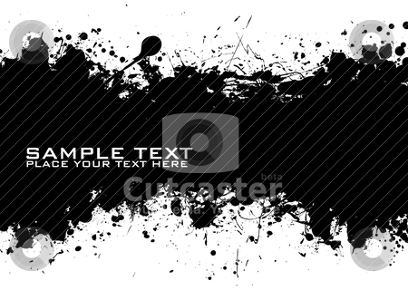 Black Text ink stock vector clipart, Sample text with black ink background and grunge effect by Michael Travers