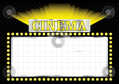 Deco cinema stock vector clipart, Cinema sign concept image with room to add your own text by Michael Travers