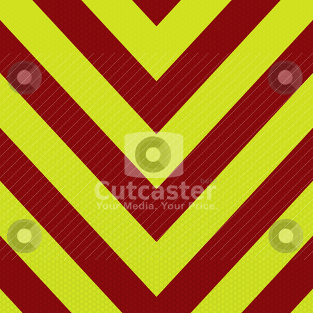 Arrow ambulance stripe stock vector clipart, Red and yellow abstract ambulance striped background in arrow shape by Michael Travers