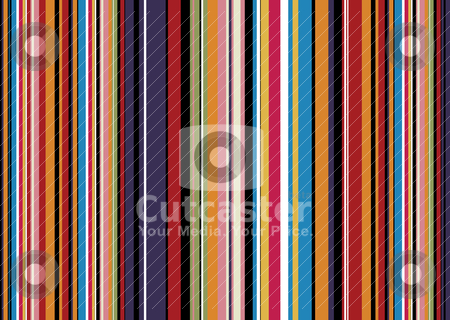 Dark candy very stock vector clipart, Brightly coloured abstract background with candy coloured stripes by Michael Travers