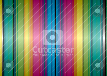 Rainbow band background stock vector clipart, Brightly coloured abstract background with rainbow stripes and gradient by Michael Travers