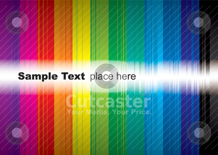 Rainbow sample stock vector clipart, Brightly coloured rainbow background with room to add your own text by Michael Travers