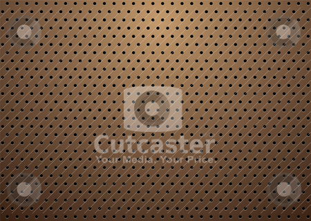 Bronze small grill stock vector clipart, Abstract bronze metal background with repeat hole design by Michael Travers