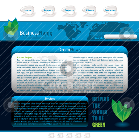 Blue web stock vector clipart, Green inspired web background with room to add your own text by Michael Travers