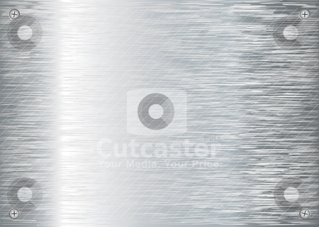 Brushed silver background new stock vector clipart, Abstract brushed silver background with cross screw and reflection by Michael Travers