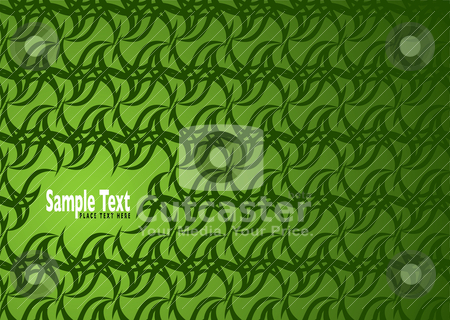 Green wallpaper hole stock vector clipart, Green abstract background with wallpaper design and copyspace by Michael Travers