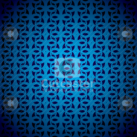 Blue swirl bg stock vector clipart, Shades of blue background with swirling repeat design by Michael Travers
