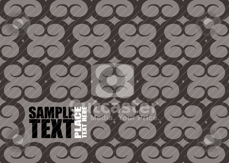 Rammed background stock vector clipart, Grey and black seamless background with space for your own text or logo by Michael Travers
