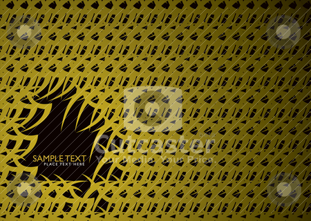 Golden forest stock vector clipart, Abstract seamless background in gold with room to add text by Michael Travers