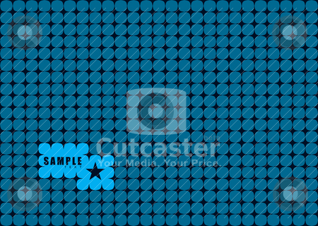 Joined circle stock vector clipart, Abstract blue and black linked background with hole for text by Michael Travers