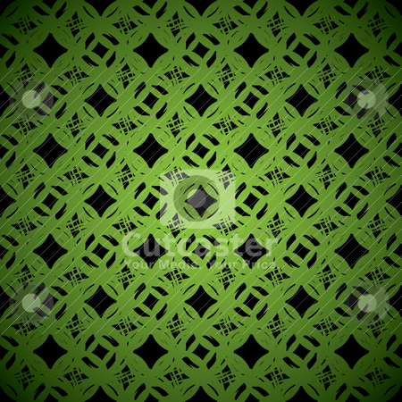 Link green background stock vector clipart, Abstract green and black wallpaper background repeat design by Michael Travers
