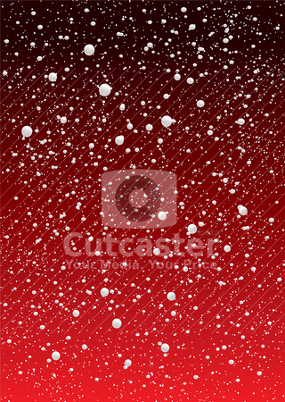 Snowflake redsky stock vector clipart, Red and black gradient snow flake sky ideal for christmas background by Michael Travers