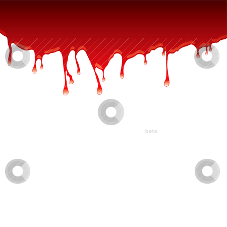 Blood dribble top stock vector clipart, Abstract blood red background with dribble and light reflection by Michael Travers