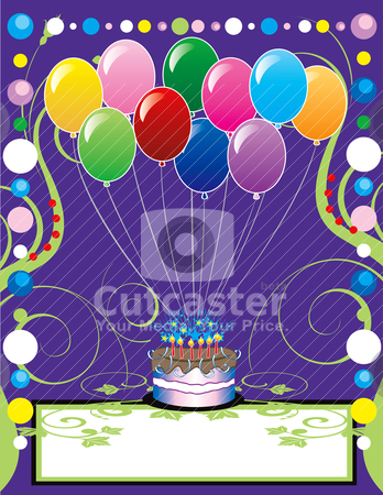 Party Template stock vector clipart, This can be used as a book cover, invitation, card or anything you choose. There is room for your text. by Basheera Hassanali