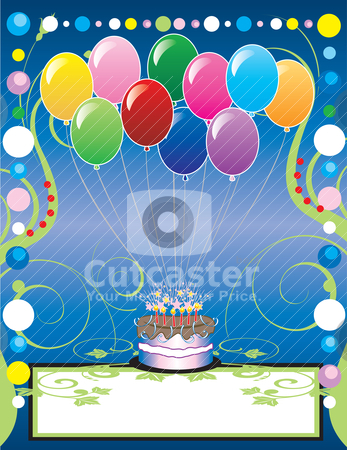 Party Template 2 stock vector clipart, This can be used as a book cover, card or anything you choose. There is room for your text. by Basheera Hassanali
