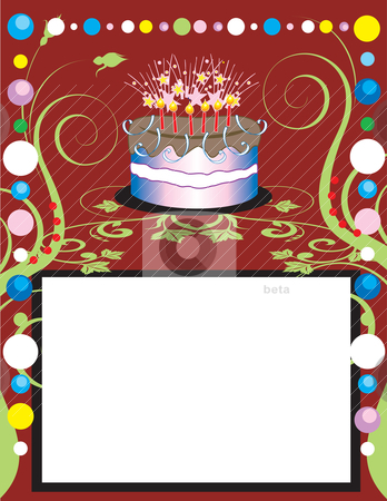 Party Template 3 stock vector clipart, This can be used as a book cover, card or anything you choose. There is room for your text. by Basheera Hassanali