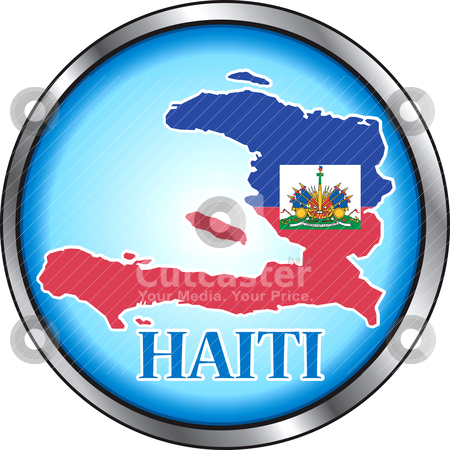 Haiti Round Button stock vector clipart, Vector Button Icon for Haiti. by Basheera Hassanali