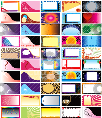 Vector 50 Horizontal Cards stock vector clipart, Vector 50 Horizontal Business Cards, Greeting Cards or Backgrounds. Can also be used for Holidays. Very decorative and themed. by Basheera Hassanali