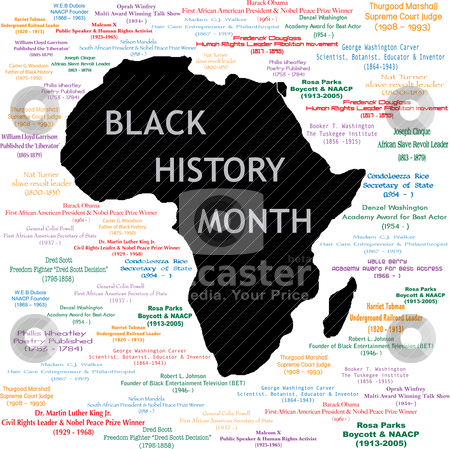 black history month clipart. for lack history month