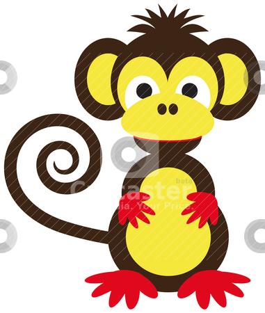 funny monkey vector illustration download animal royalty free